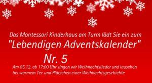 Lebendiger Adventskalender Nr. 5 im Kinderhaus am Turm