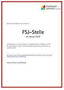 FSJ - Stelle ab Januar 2018