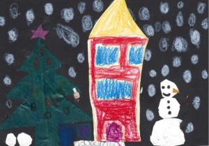 Montessori Stand auf dem Rohrbacher Weihnachtsmarkt